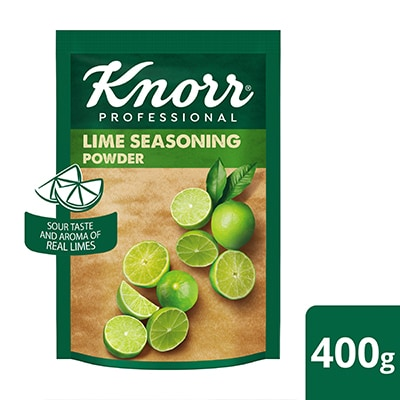 Knorr Professional Lime Seasoning (24x400g) - Knorr Professional Lime Seasoning Powder provides the natural sourness and aroma of lime all year round.
